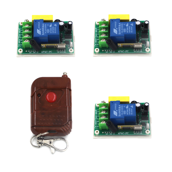 New Arrival AC220V 30A 1 Channel Radio Wireless Remote Control Switch 315mhz 3 Receiver 200m High Sensitivity SKU: 5174