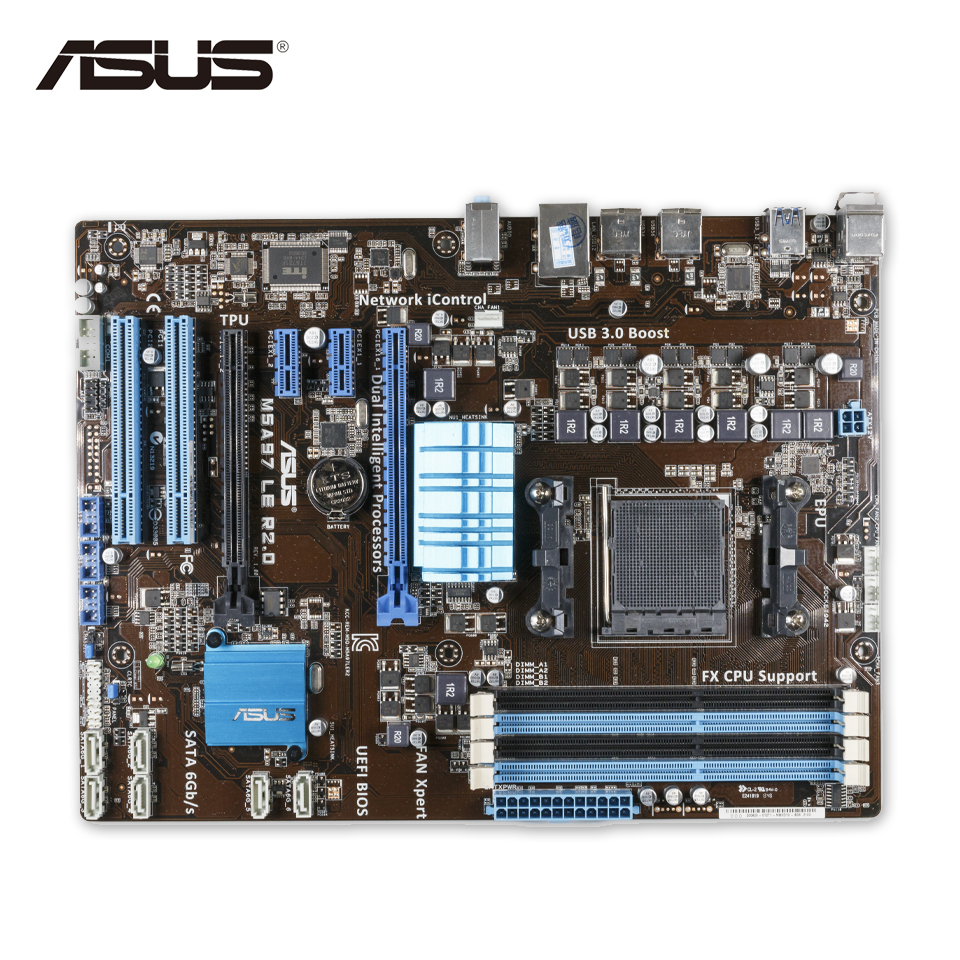 все цены на Asus M5A97 LE R2.0 Desktop Motherboard 970 AM3/AM3+ FX6300 FX8300 DDR3 32G SATA3 USB3.0  ATX Second-hand High Quality онлайн