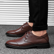 Rommedal mens genuine leather formal shoes flat lace up British oxford male wedding business gentlemen footwear wholesale