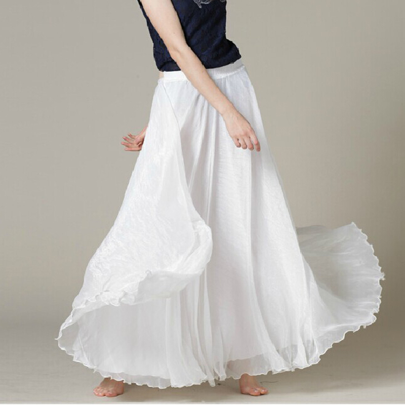 White maxi skirt chiffon – Modern skirts blog for you