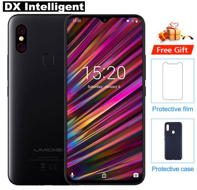 "UMIDIGI F1 4GB+128GB Helio P60 Octa Core 18W Fast Charge Mobile Phone 6.3""FHD+ 19.5:9 Screen Android 9.0 16MP Dual Cam NFC OTG"