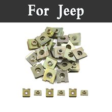 2018 New 100pcs Bronze Tone Spring Metal Car Styling Door Panel Spire Screw Clips For Jeep Liberty Renegade Wrangler Commander