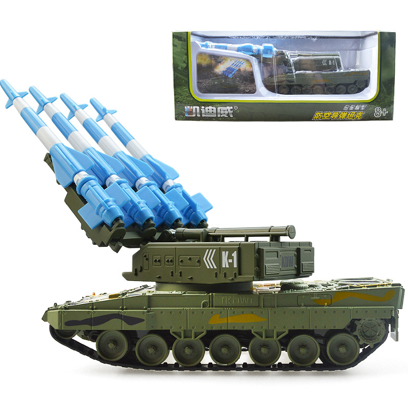 1:40 High simulation Missile Tank,Tank toys, military models, air defense missiles, can launch,box gift,free shipping