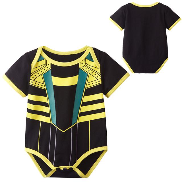 Nouveau-né Bébé Garçon Loki Costume Body Infantile Parti Combishort Manches Courtes Coton 0-24 Mois