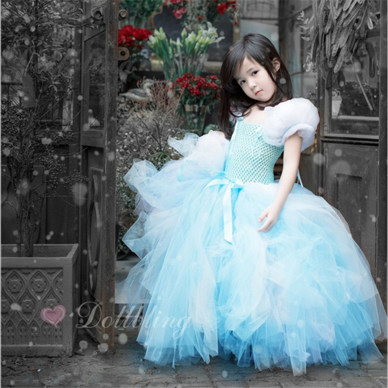 My Child fairy tale cinderella Actress flower girl fluffy ball gown outfit USA 1st birthday evening prom pink tutu party dress