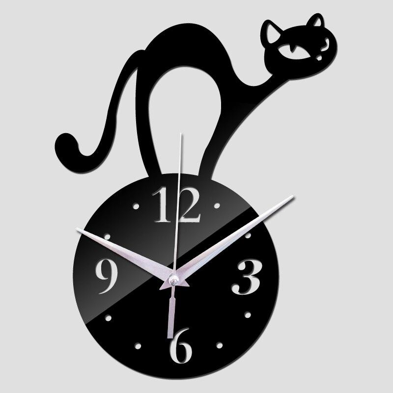 New Creative Wall Clock Quartz Watch Diy Clocks Living Room Acrylic 3d Stickers  Free Shipping Reloj De Pared Horloge