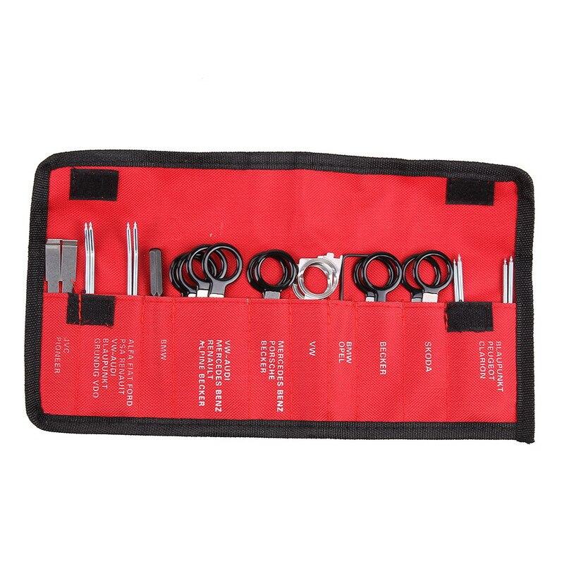 20 pcs Vehicle Radio Removal Tools Door Panel Removal Realese Stereo Headunit Audio Keys Navigation Dash Trim Install Tools Kit