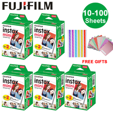 10-100 листов Fujifilm Instax Mini White Edge пленка мгновенная фотобумага для Instax Mini 8 9 7 s 9 70 25 50 s 90 SP-1 2 камеры подарки