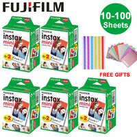 10-100 Sheets Fujifilm Instax Mini White Edge Film Instant Photo Paper for Instax Mini 8 9 7s 9 70 25 50s 90 SP-1 2 Camera Gifts