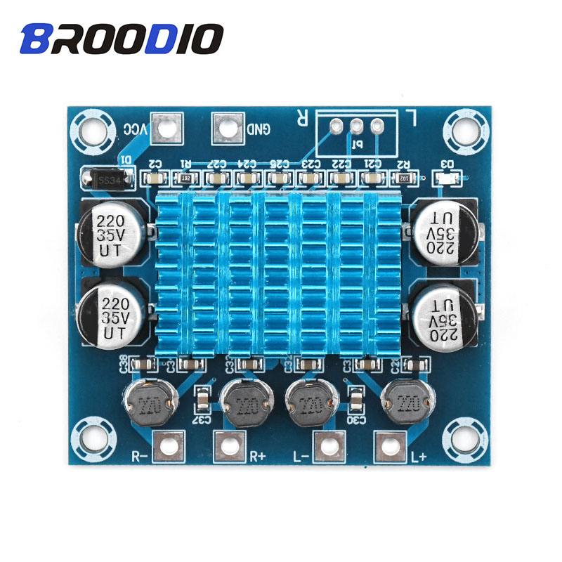 High HD Digital Audio Amplifier Board Dual Channel 2 30W MP3 Class D Amplifiers Module 12V 24V Expand The Soundboard For Speaker in Amplifier from Consumer Electronics
