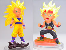 2 pçs/lote original Japonês anime figura Q versão de dragon ball action figure collectible modelo brinquedos(China)