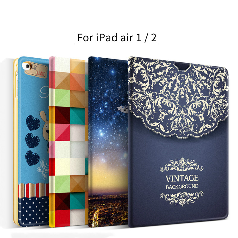 case for iPad air 2 cover for apple iPad air 1 2 case 9.7 inch All-inclusive ultra-thin for iPad 5 6 case air flip cover 9.7