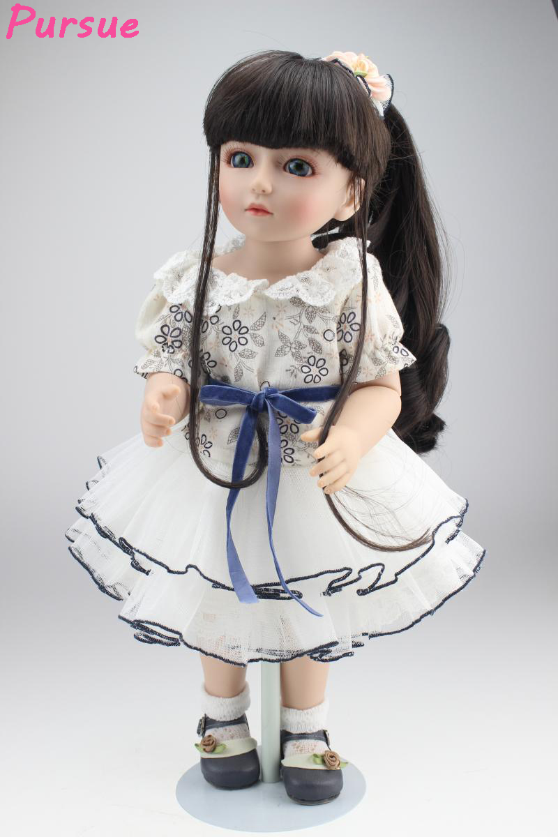 Pursue 18 inch American Girl princess BJD Doll Educational Toys for Girls Fantasy BJD Silicone Baby American Girl Doll Reborn american girl doll clothes 4 styles elsa blue lace princess dress doll clothes for 16 18 inch dolls baby doll accessories x 2