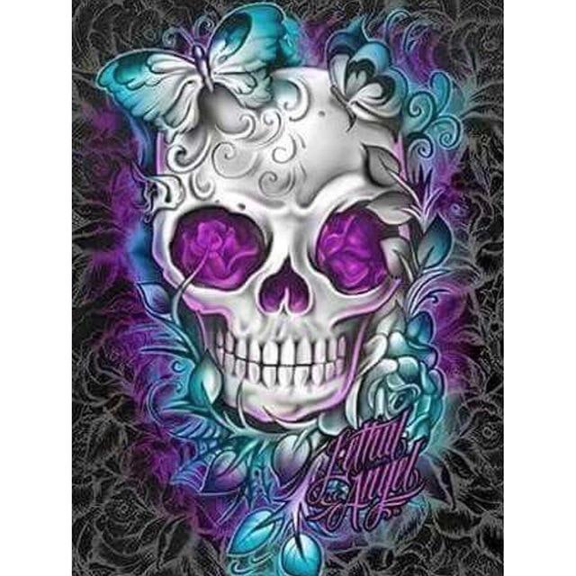 Diamond painting Cartoon skull Full Square/Round Diamond embroidery Cross stitch Scenery Diamond  Wall Painting love gift