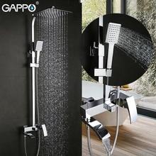 Gappo 샤워 수도꼭지 세트 폭포 벽 욕조 수도꼭지 믹서 탭 목욕 샤워 믹서 헤드 크롬 욕실 샤워 세트 g2407 G2407 8