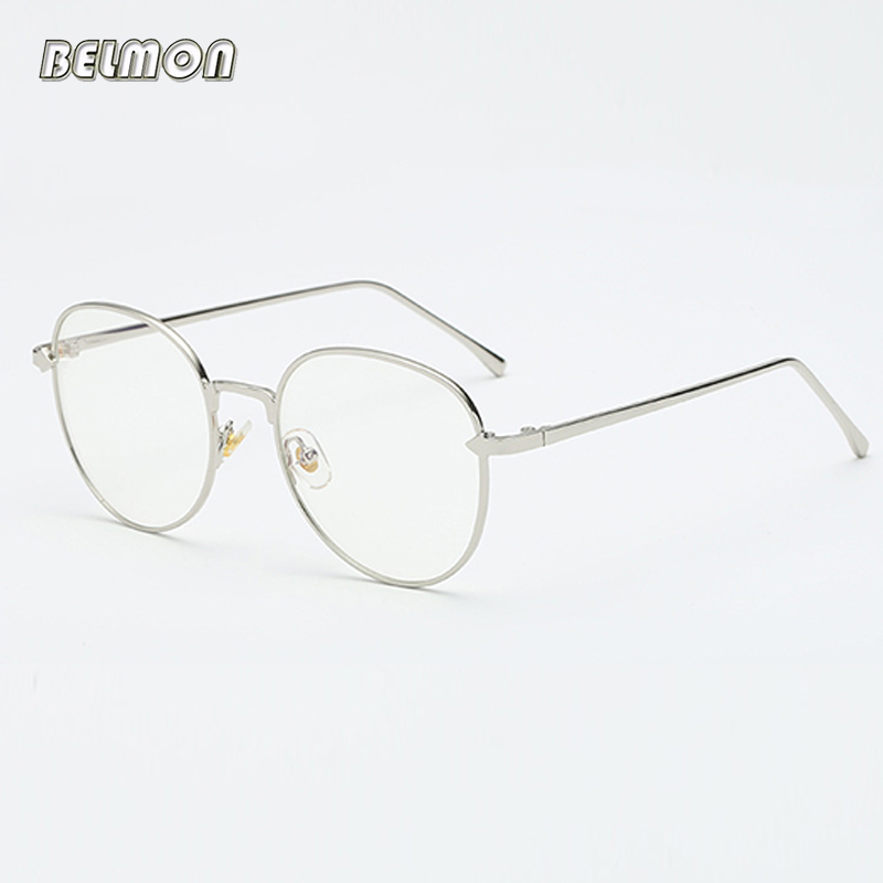 35b51ef3b1 Anti-Blue Rays Round Spectacle Frame Women Vintage Eyeglasses Computer  Gaming Glasses Clear Lens For