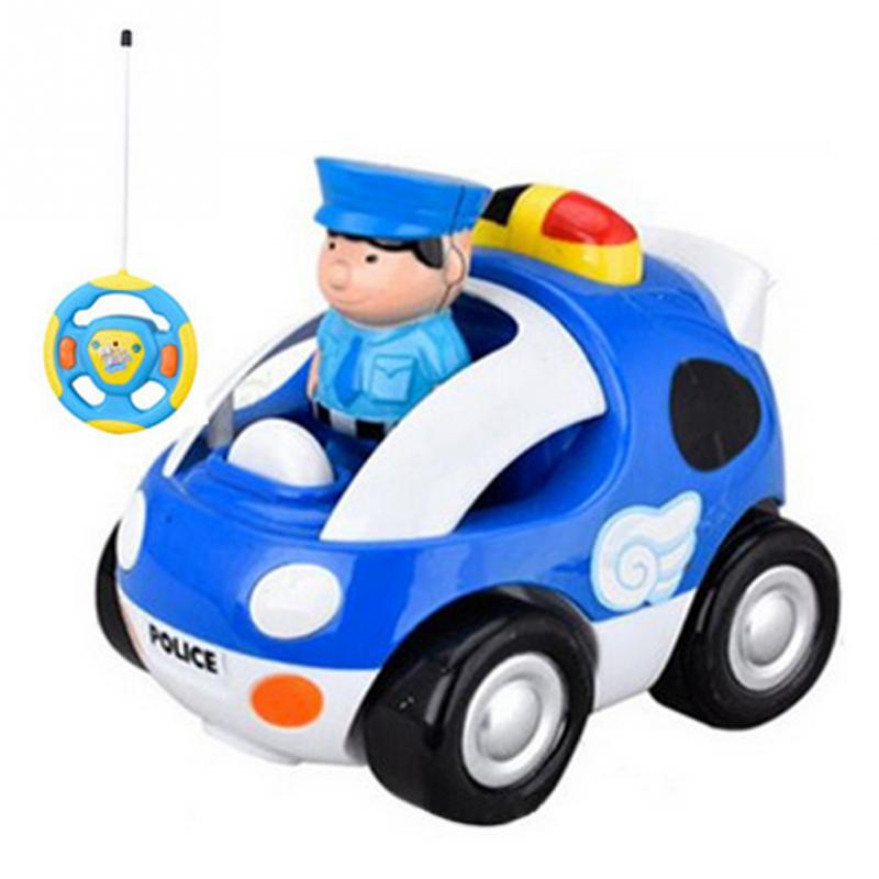 Kids Funny Electronic Music Toys Radio Control Car Component MINI Cartoon RC Race Baby Car Toy Gift For Children Random Color
