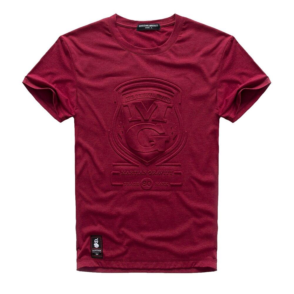 c83b4f5da7 NEW 2017 Men New Print T Shirt Mens Short Sleeve T shirt MG Embossed Stamp  Print Stretch T Shirt Male M 3XL V7S1T052-in T-Shirts from Men's Clothing  on ...