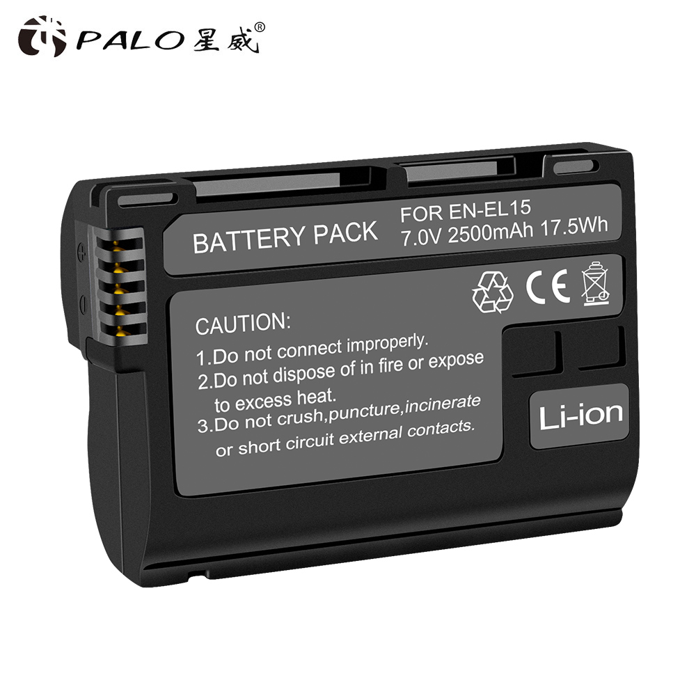 PALO 1 PCS Voll decodiert EN-EL15 EN EL15 EL15 Kamera Batterie Für Nikon D600 D610 D800 D800E D810 D7000 d7100 D7200 V1 Batterie