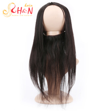 Brazilian 360 Swiss Lace Frontal Closure 8A Lace Frontal With Baby Hair Piece Straight Hair Lace Band Full Frontal Lace Closure