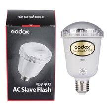 Godox luz intermitente electrónica para estudio fotográfico, luz estroboscópica para estudio fotográfico, bombilla de Flash esclavo AC para E27 220V
