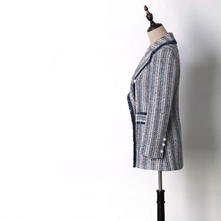 Vestes Col Nouveau Rayé Costume See Manteaux Chart Saison Bleu Wt8528017 ZqwxHAawR