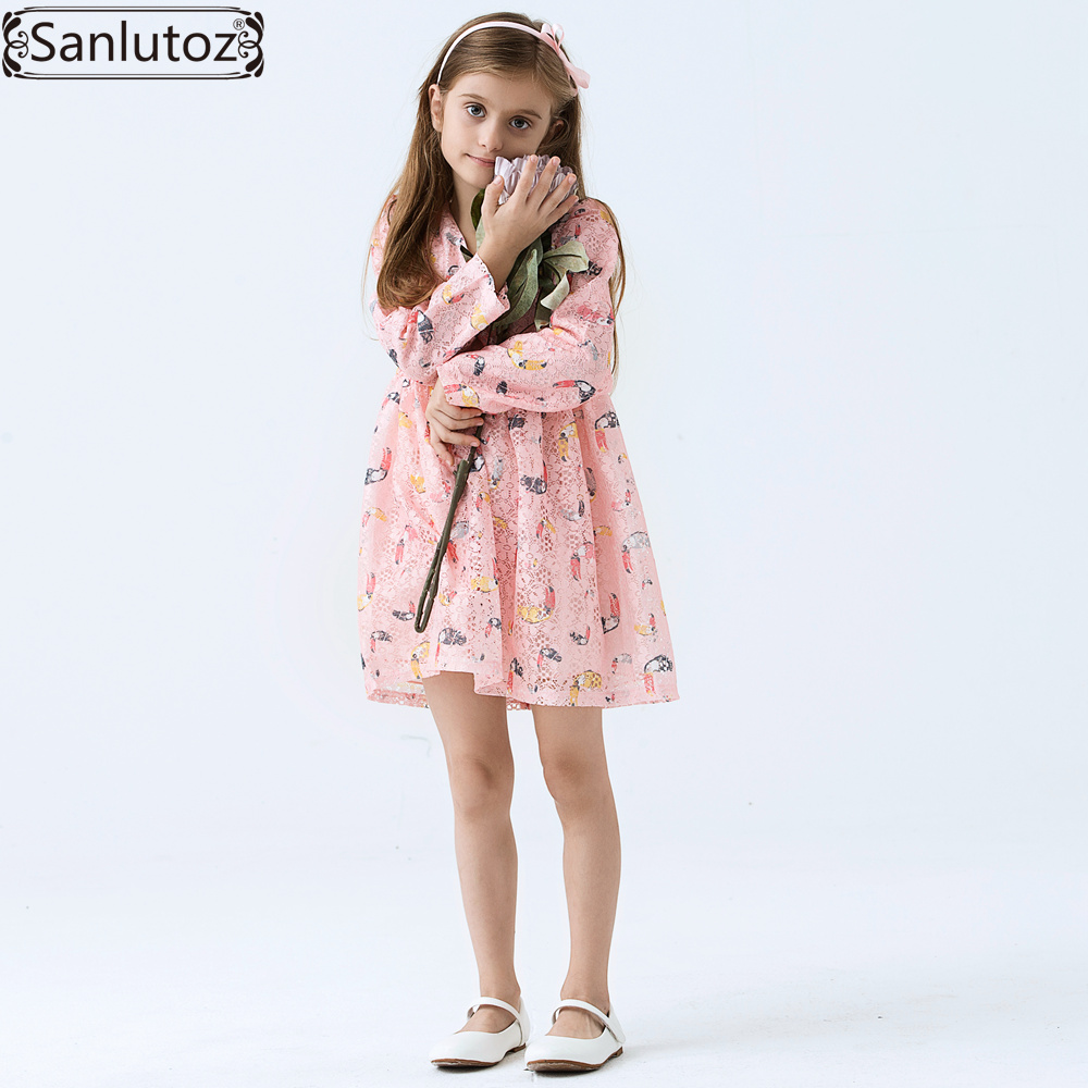 Girls Dress Brand Kids Clothes Children Girls Clothing Spring Lace ...