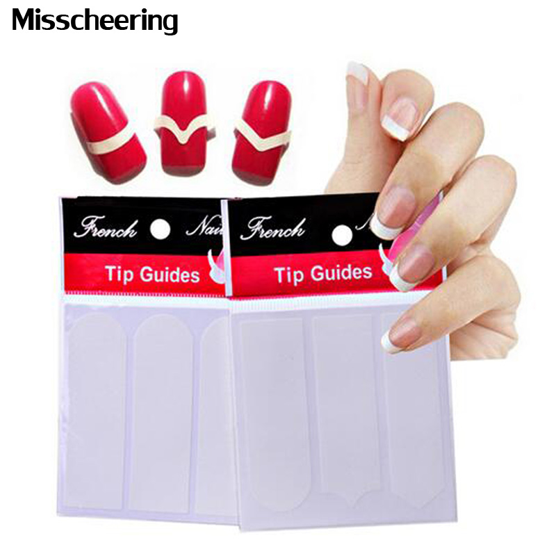 1pack Nail Art French Tip Guides Sticker Acrylic False Nail Tips Decals DIY Manicure Styling Nail Form Fringe Tools накладные ногти unbranded 100pcs french nail tips