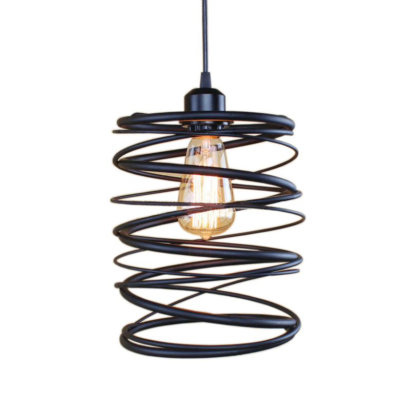 1 Piece New Style Iron Black Finished Vintage Pendant Light Lamp Without Bulbs free shipping one sample order new style geometrical figure simple iron black finished pendant lamps dk 60