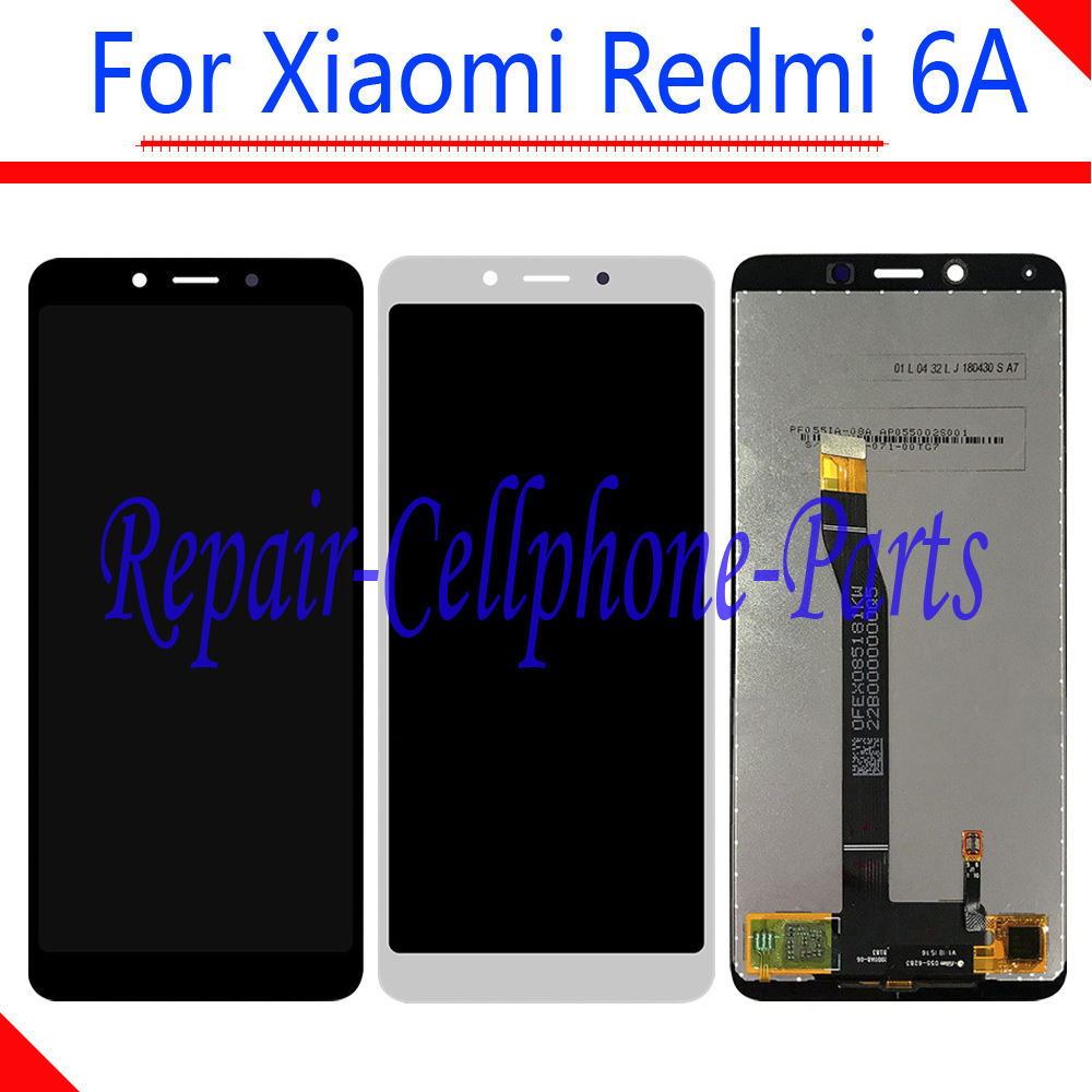 New 5.45 inch Black / White Full LCD Display + Touch Screen Digitizer Assembly For Xiaomi Redmi 6A M1804C3CT M1804C3CHNew 5.45 inch Black / White Full LCD Display + Touch Screen Digitizer Assembly For Xiaomi Redmi 6A M1804C3CT M1804C3CH