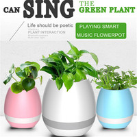 2017 LED Wireless Bluetooth Speaker Smart Music Flowerpot Wireless Mini Speakers Colorful Loudspeaker