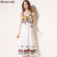 Bohemian White Long Summer Beach Dress Women Strapless Sexy Dress Vestidos Verano 2019 Chiffon Embroidered Maxi Dress K6213