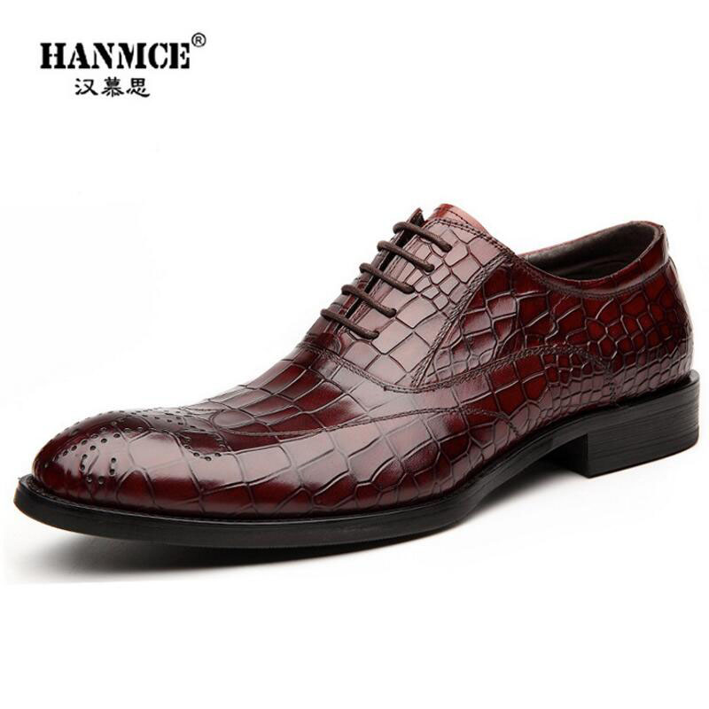 High Quality Men Shoes Crocodile Genuine Leather Flat Shoes Business Luxury Wedding Mens Leather Loafers Oxford Zapatos Hombr top quality crocodile grain black oxfords mens dress shoes genuine leather business shoes mens formal wedding shoes
