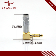 100pcs gold plated brass Solder Stereo 4 Pole 3.5mm Plug male headphone jack 90 Degree right Angle Jack Cable adapter connector 50pcs gold plated 3 5mm jack stereo audio mini jack plug right angle or straight connector carbon fiber diameter 6mm