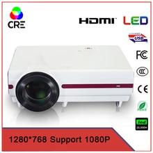 Bajo costo de alta calidad portable 3,500 lúmenes 200 pulgadas de pantalla hdmi vga usb tv oficina escuela presentación proyector led CRE X1500