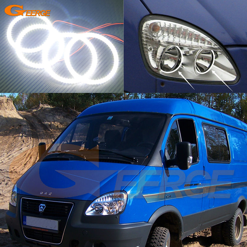 For GAZ GAZelle 2705 2003 2004 2005 2006 2007 2008 2009 Excellent Ultra bright illumination smd led Angel Eyes kit swing arm pivot frame trim covers for honda vtx1300 2003 2004 2005 2006 2007 2008 2009 chrome
