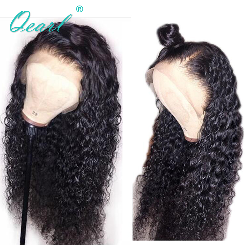 Curly Human Hair Wig Natural Color Lace Front Wig for Women Brazilian Remy Hair Bleached Knots