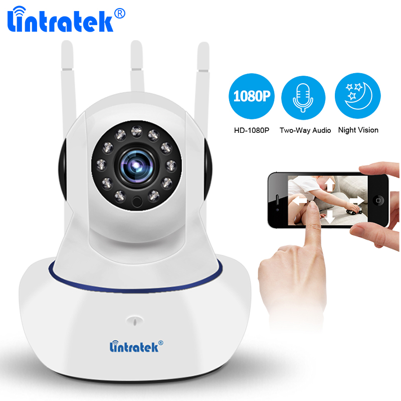 Lintratek CCTV Security Wireless Camera HD 1080P Wifi IP Camera Baby Monitor Pan Tilt IR Night Vision Yoosee P2P Remote Control hd 1080p pan
