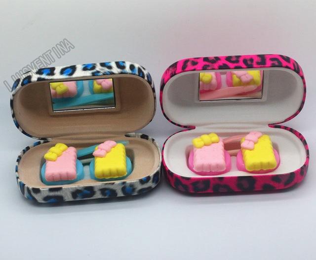 Liusventina DIY смолы любовь лук cooky контактные линзы чехол для глаза контактные линзы коробка для очки очешник дорожные аксессуары