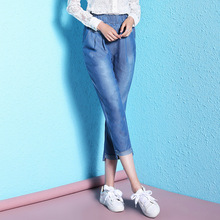 2018 womens large size summer jeans calf-length tencel thin loose for women NW18B2624