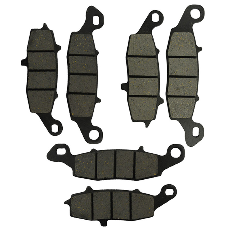 Motorcycle Front and Rear Brake Pads For KAWASAKI ZR 750 F ZR750 F (ZR-7) 1999-2004 Black Brake Disc Pad economic bicycle brake pads black 4 pcs