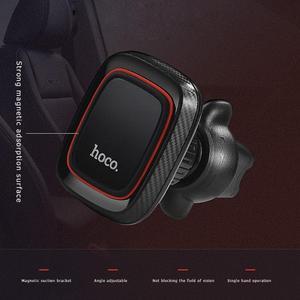 Image 5 - HOCO CA23 Đa Năng Từ Tính 360 Độ BẰNG Da PU Núi Lỗ Thông Khí Giữ Điện Thoại Chân Đế cho iPhone X
