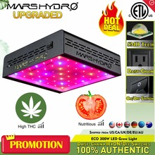 MarsHydro ECO 300W LED Grow Light for Indoor Tent Plants Hydroponics Full Spectrum Growing Lamp from Seeding to Harvest