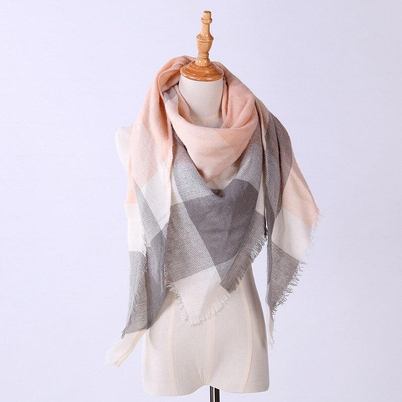 IMucci Neue Winter Schal Mode Frauen Schal Luxus Plaid Kaschmir Schals Frauen Dreieck Bandage Bufanda Großhandel 140*140*210
