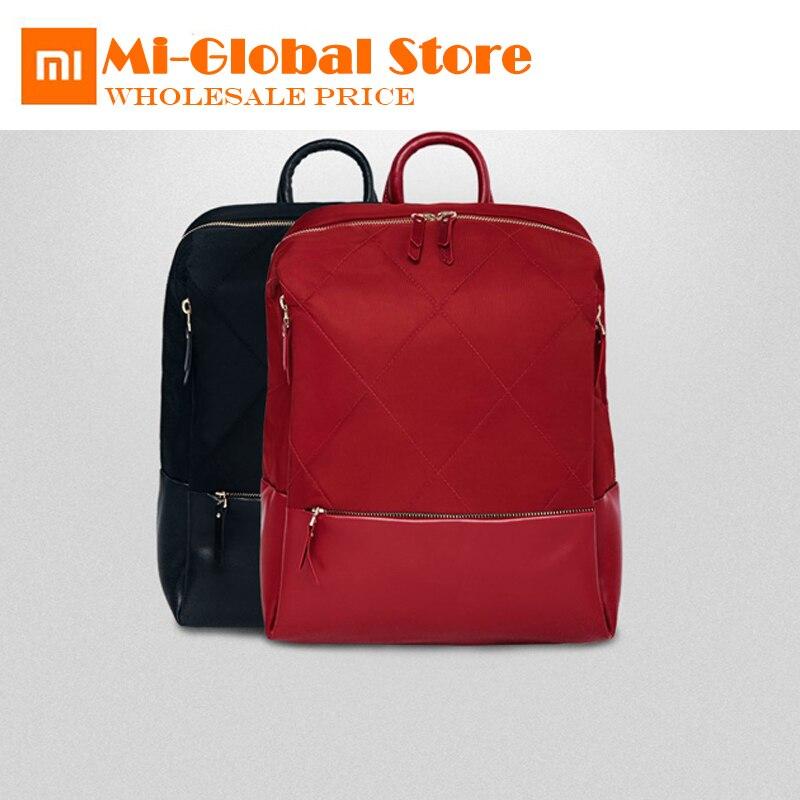 Оригинальный Xiaomi 90 Забавный городской рюкзак для женщин Модный Элегантный рюкзак с ромбовидной решеткой для девочек, Студенческая Повседневная Школьная Сумка 13 дюймов