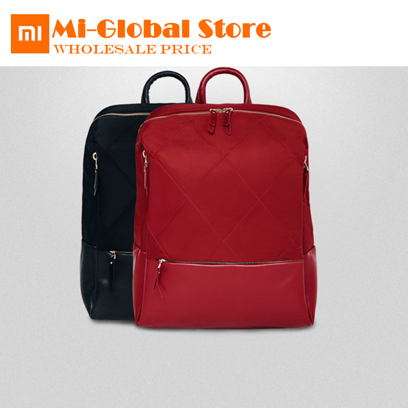 original Xiaomi 90 Fun City Backpack Women Fashion Diamond Lattice Elegant Mochila Girls Student Casual School Bag 13 Inch