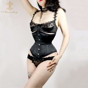 Image 5 - Cheap Plus Size Corsets For Sale Fast Slim 3 7 Inches Waist Slimming Steel Boned Underbust Korset