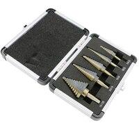 Drill Bit Set 5pcs Hss Cobalt Multiple Hole 50 Sizes Step Drills 1 4 1 3
