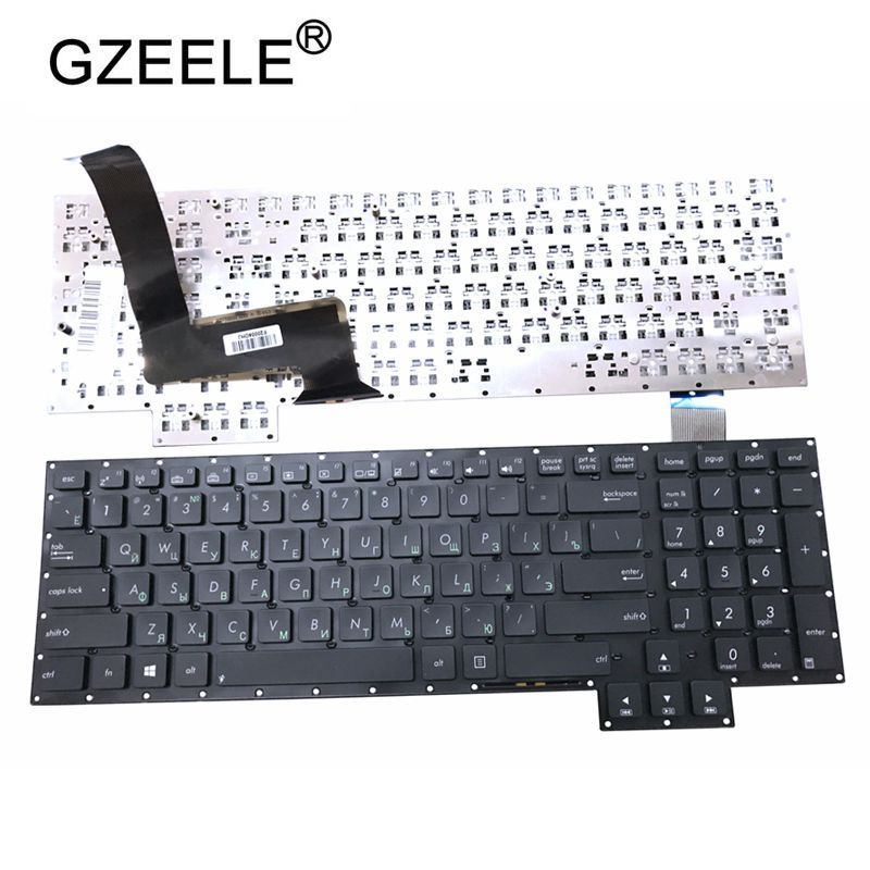 GZEELE NEW Russian Keyboard For Asus G750 G750J G750JH G750JM G750JS G750JW G750JX G750JZ G750JY Black RU Laptop Keyboard