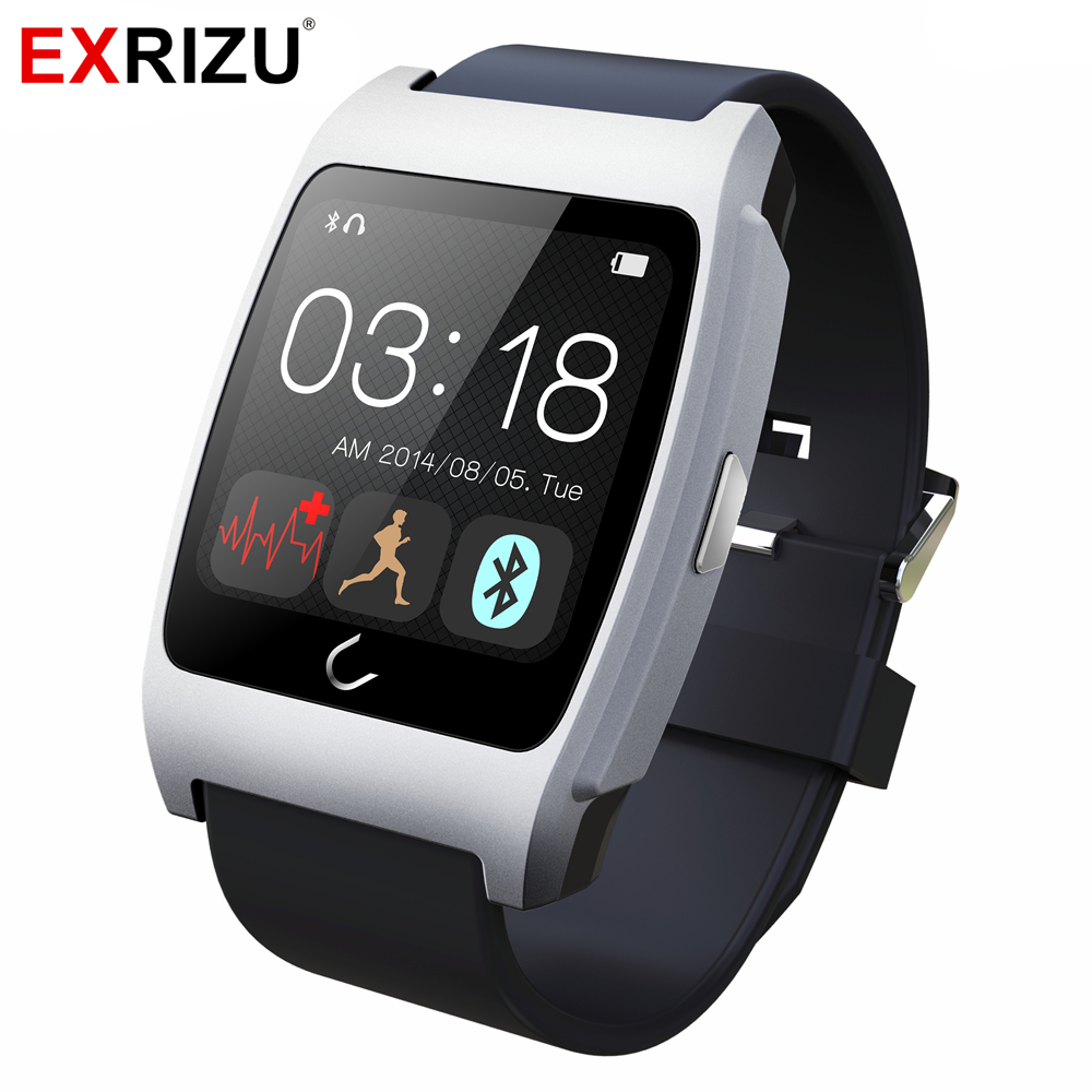 EXRIZU UX Bluetooth Smart Watch Phone Clock Pedometer Smartwatch with Heart Rate Sensor Monitor Compass for Android iOS Phone